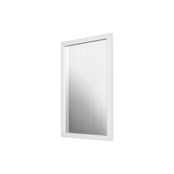 SPINDER DESIGN rektangulær Senza vægspejl - spejlglas og hvid stål (55x40)