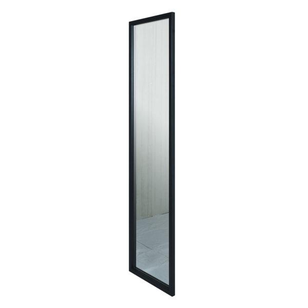 SPINDER DESIGN rektangulær Senza vægspejl - spejlglas og sort stål (185x46)
