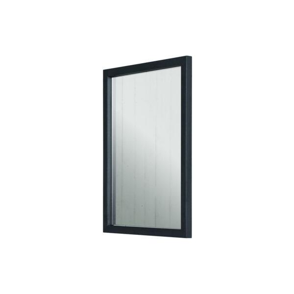 SPINDER DESIGN rektangulær Senza vægspejl - spejlglas og sort stål (55x40)