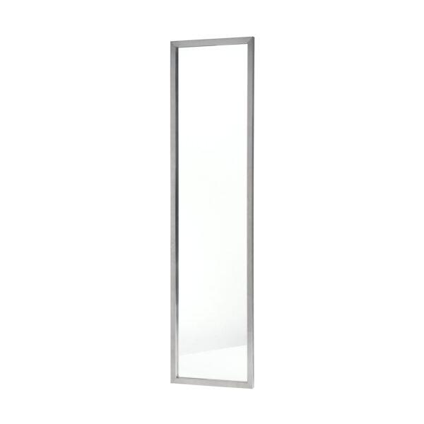 SPINDER DESIGN rektangulær Senza vægspejl - spejlglas og stål (185x46)