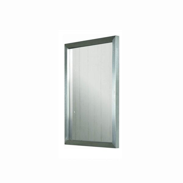 SPINDER DESIGN rektangulær Senza vægspejl - spejlglas og stål (55x40)