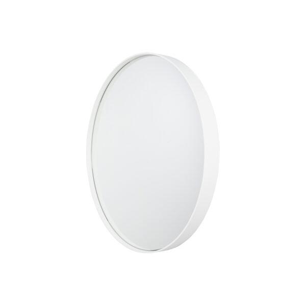 SPINDER DESIGN rund Donna vægspejl - spejlglas og hvid stål (Ø60)