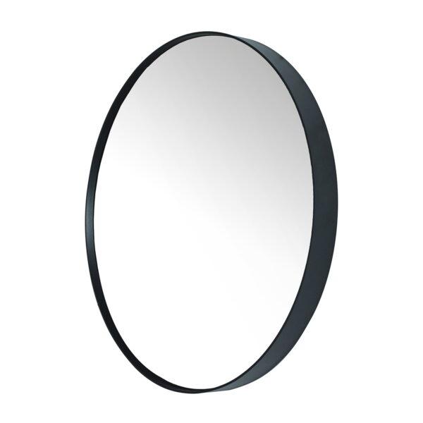 SPINDER DESIGN rund Donna vægspejl - spejlglas og sort stål (Ø90)