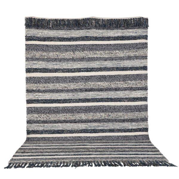 VENTURE DESIGN Agra gulvtæppe - grå og blå uld (170x240)