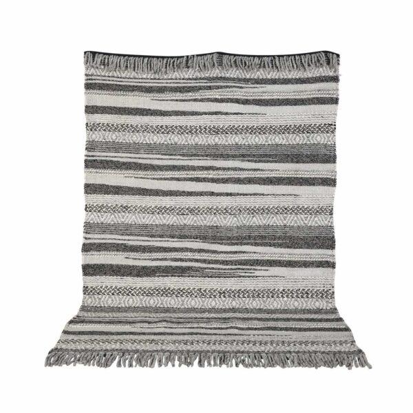 VENTURE DESIGN Alwar gulvtæppe - mørkegrå uld (200x300)