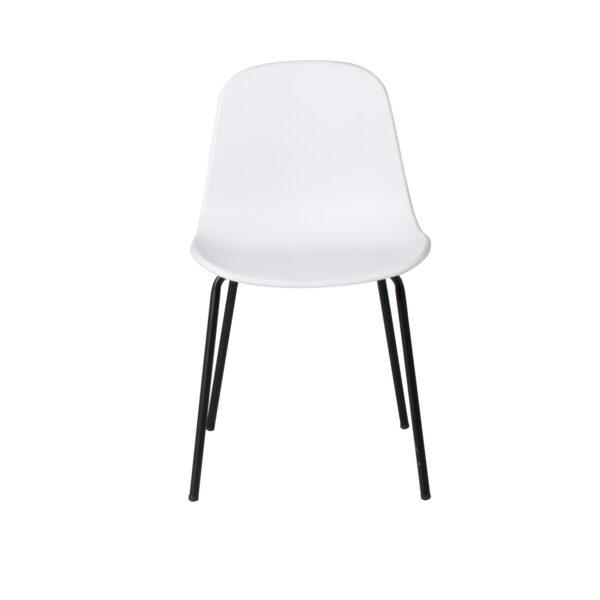 VENTURE DESIGN Arctic spisebordsstol - hvid plastik og sort metal