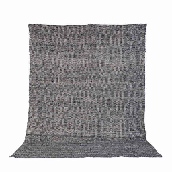 VENTURE DESIGN Devi gulvtæppe - grafitgrå polyester og bomuld (170x240)