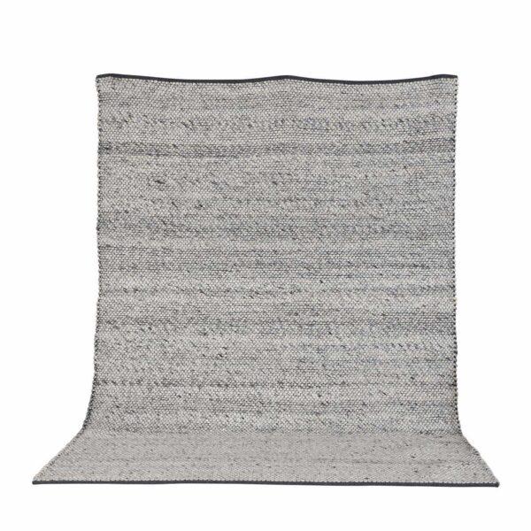 VENTURE DESIGN Ganga gulvtæppe - grå uld og bomuld (200x300)