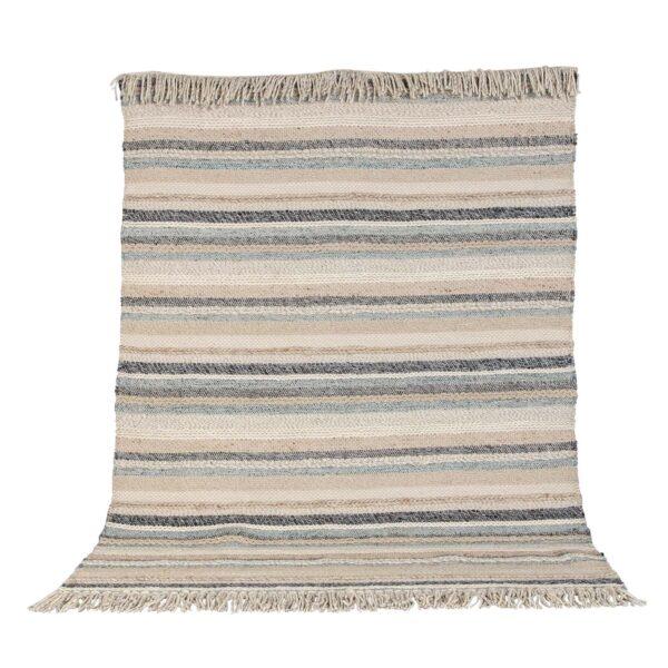 VENTURE DESIGN Gudha gulvtæppe - beige og blå uld (200x300)