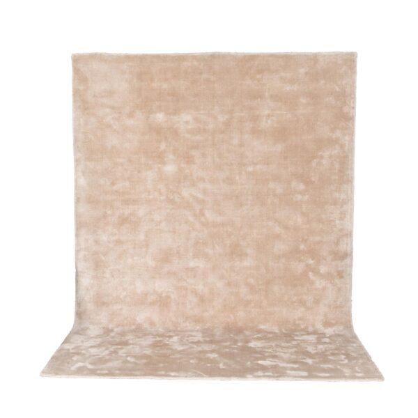 VENTURE DESIGN Indra gulvtæppe - beige viskose og bomuld (170x240)
