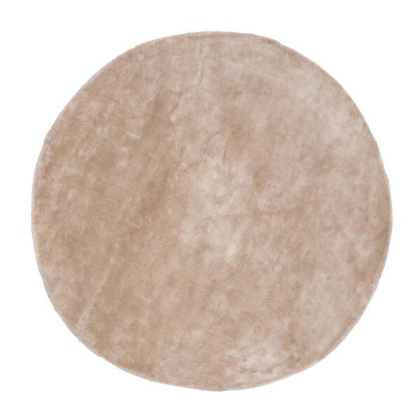VENTURE DESIGN Indra gulvtæppe - beige viskose og bomuld (Ø200)