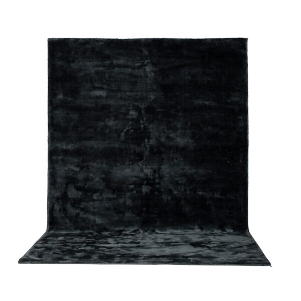 VENTURE DESIGN Indra gulvtæppe - grafitgrå viskose og bomuld (170x240)