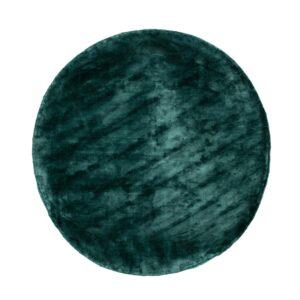 VENTURE DESIGN Indra gulvtæppe - grøn viskose og bomuld (Ø200)