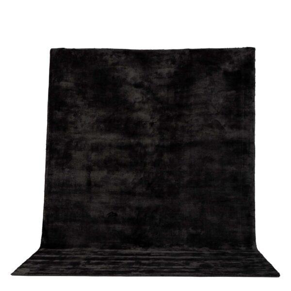 VENTURE DESIGN Indra gulvtæppe - mørkegrå viskose og bomuld (170x240)