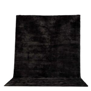 VENTURE DESIGN Indra gulvtæppe - mørkegrå viskose og bumuld (200x300)