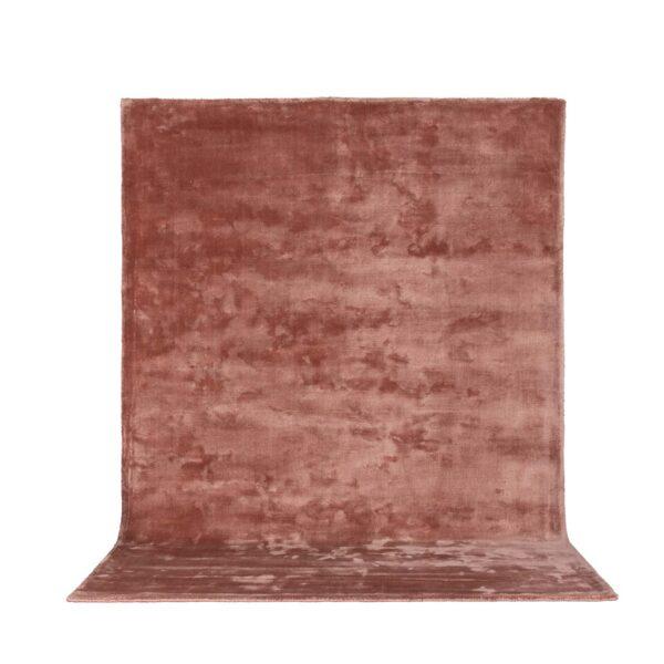 VENTURE DESIGN Indra gulvtæppe - rosa viskose og bomuld (250x350)