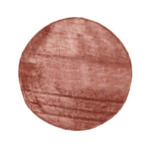 VENTURE DESIGN Indra gulvtæppe - rosa viskose og bomuld (Ø200)