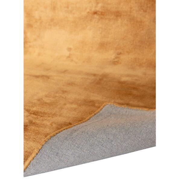 VENTURE DESIGN Indra gulvtæppe - sennepsgul viskose og bomuld (200x300)