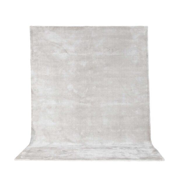 VENTURE DESIGN Indra gulvtæppe - sølv viskose og bomuld (170x240)