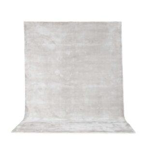 VENTURE DESIGN Indra gulvtæppe - sølv viskose og bomuld (200x300)