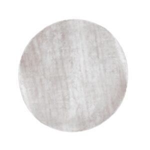 VENTURE DESIGN Indra gulvtæppe - sølv viskose og bomuld (Ø200)