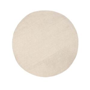 VENTURE DESIGN Jaipur gulvtæppe - beige uld og bomuld (Ø200)