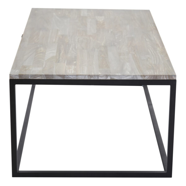 VENTURE DESIGN Jepara sofabord - grå træ og metal (120x60)