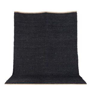VENTURE DESIGN Kali gulvtæppe - sort jute (170x240)