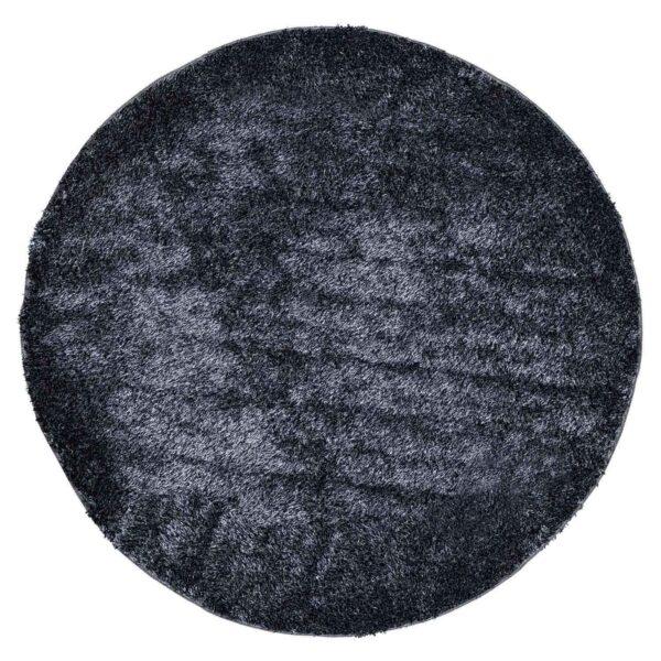 VENTURE DESIGN Mattis gulvtæppe - antracitgrå polyester (Ø200)
