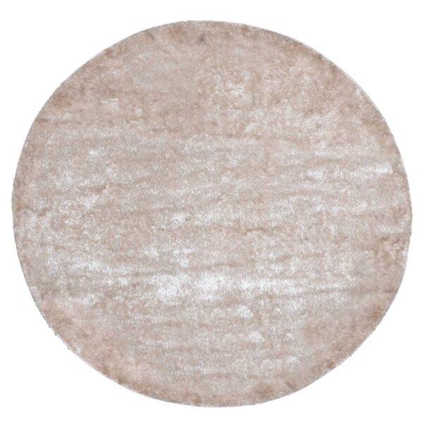 VENTURE DESIGN Mattis gulvtæppe - beige polyester (Ø200)
