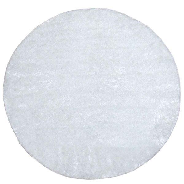 VENTURE DESIGN Mattis gulvtæppe - hvid polyester (Ø200)