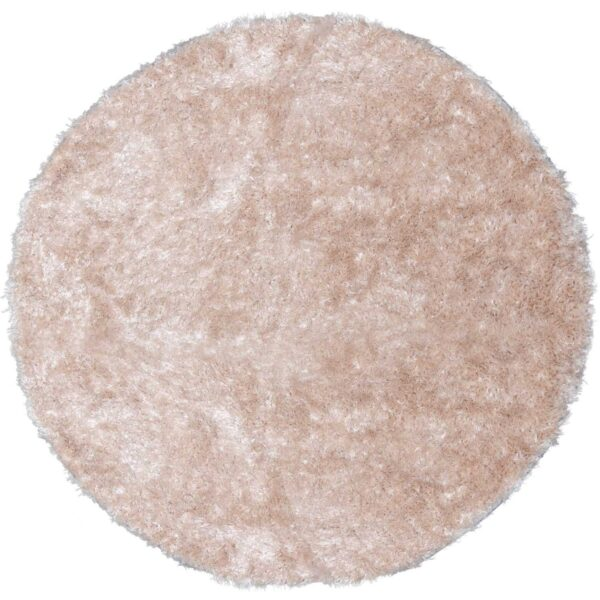 VENTURE DESIGN Natta gulvtæppe - beige polyester (Ø200)