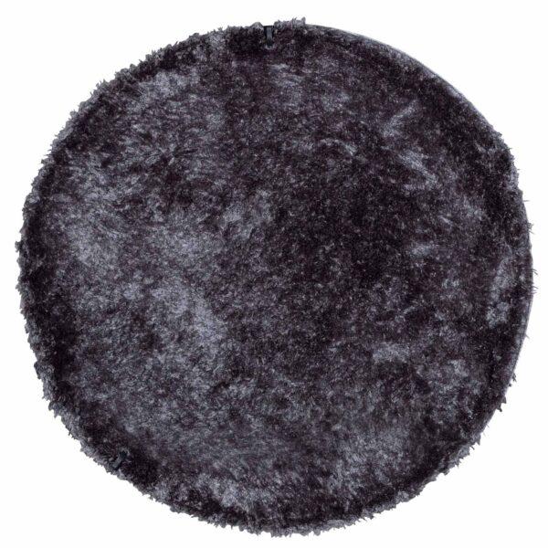 VENTURE DESIGN Natta gulvtæppe - mørkegrå polyester (Ø200)