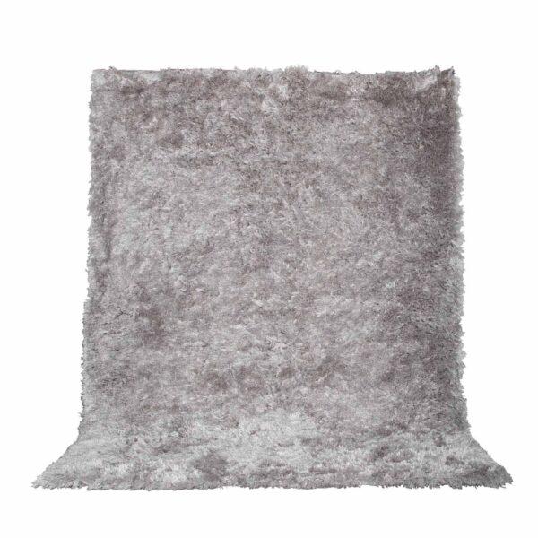 VENTURE DESIGN Natta gulvtæppe - sølv polyester (230x160)