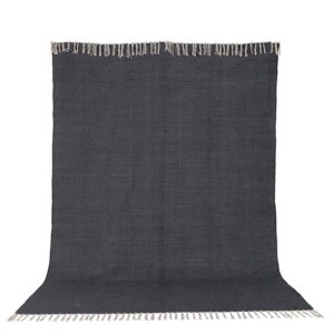 VENTURE DESIGN Panipat gulvtæppe - mørkegrå bomuld (170x240)
