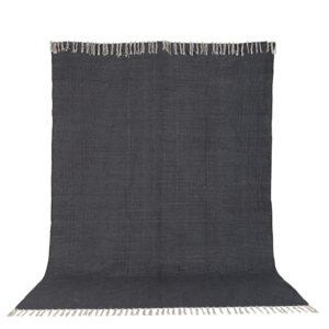 VENTURE DESIGN Panipat gulvtæppe - mørkegrå bomuld (200x300)