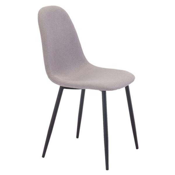 VENTURE DESIGN Polar spisebordsstol - grå polyester og sort metal