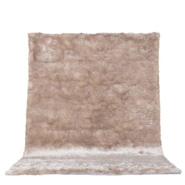 VENTURE DESIGN Shiva Shaggy gulvtæppe - champagne polyester og bomuld (170x240)