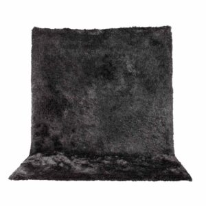 VENTURE DESIGN Shiva Shaggy gulvtæppe - grå polyester og bomuld (170x240)