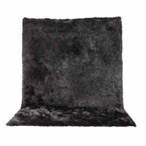 VENTURE DESIGN Shiva Shaggy gulvtæppe - grå polyester og bomuld (200x300)