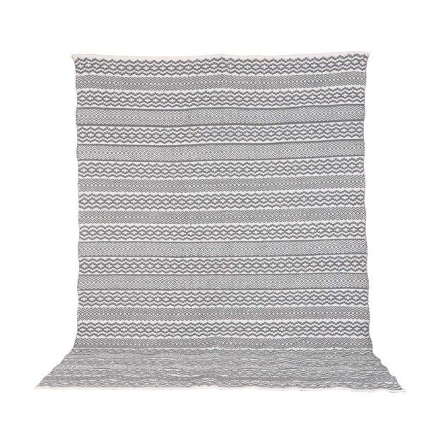 VENTURE DESIGN Sishu gulvtæppe - lysegrå uld og bomuld (200x300)