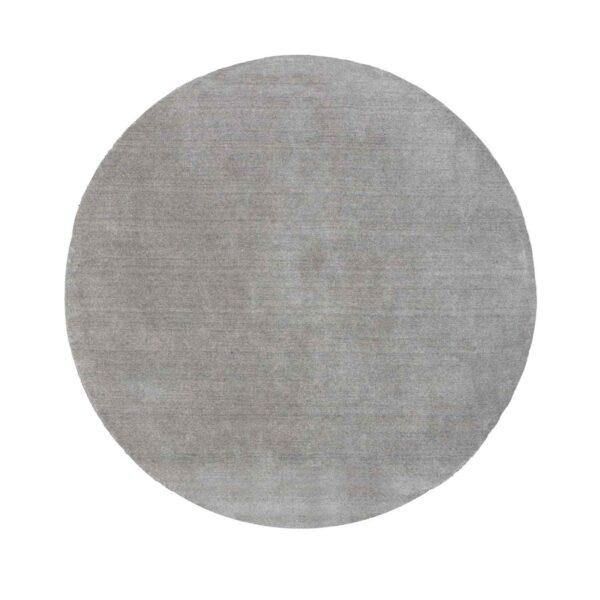 VENTURE DESIGN Ulla gulvtæppe - lysegrå uld og polyester (Ø200)