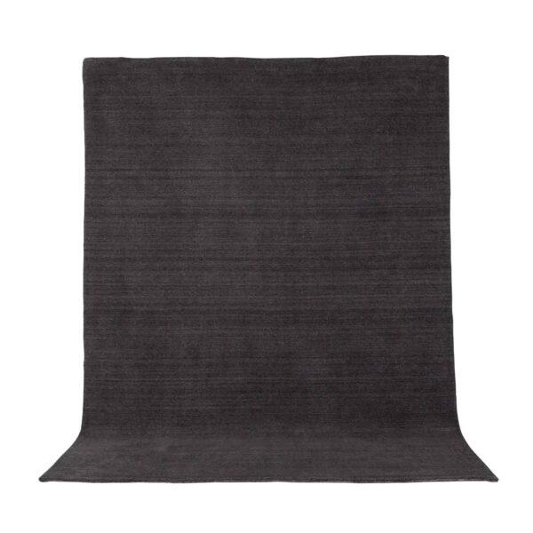 VENTURE DESIGN Ulla gulvtæppe - mørkegrå uld og polyester (160x230)