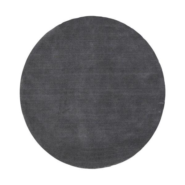 VENTURE DESIGN Ulla gulvtæppe - mørkegrå uld og polyester (Ø200)