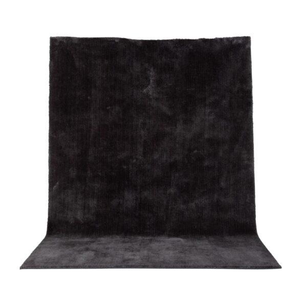 VENTURE DESIGN Undra gulvtæppe - mørkegrå viskose (200x300)