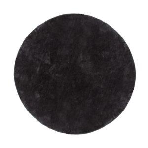 VENTURE DESIGN Undra gulvtæppe - mørkegrå viskose (Ø200)