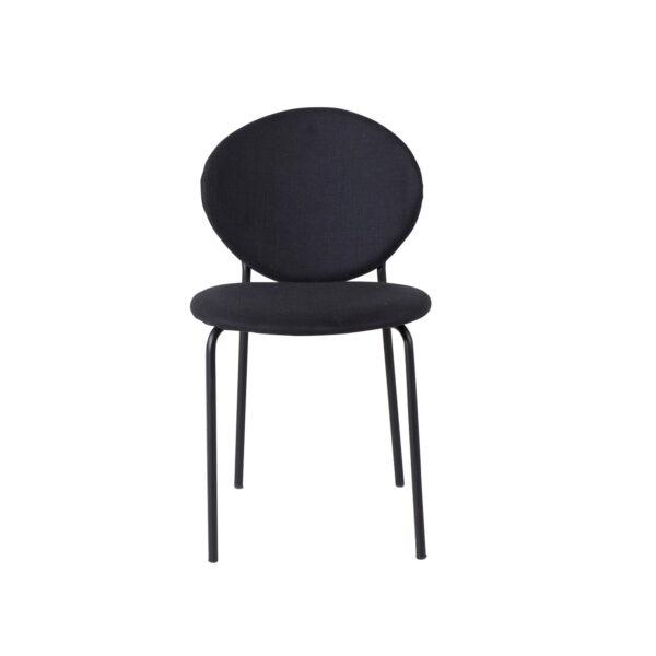 VENTURE DESIGN Vault spisebordsstol - sort polyester og sort metal