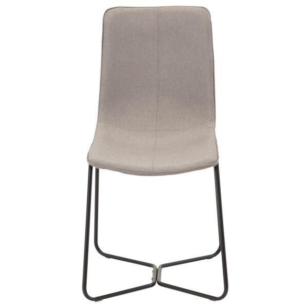 VENTURE DESIGN X-Chair spisebordsstol - grå polyester og sort metal