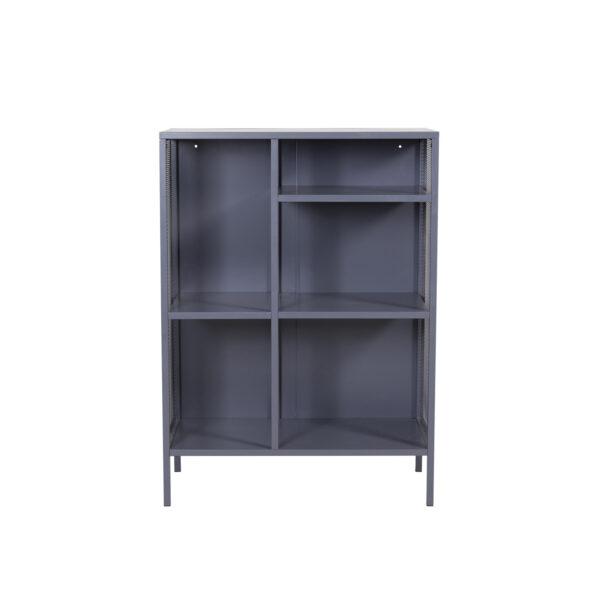 VENTURE DESIGN bogreol - grå stål