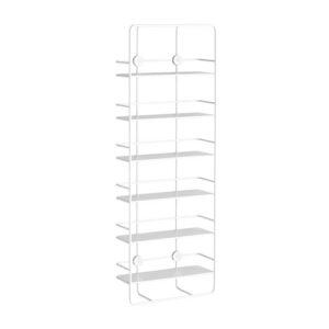 WOUD Coupé Vertical væghylde - hvid metal, m. 6 hylder